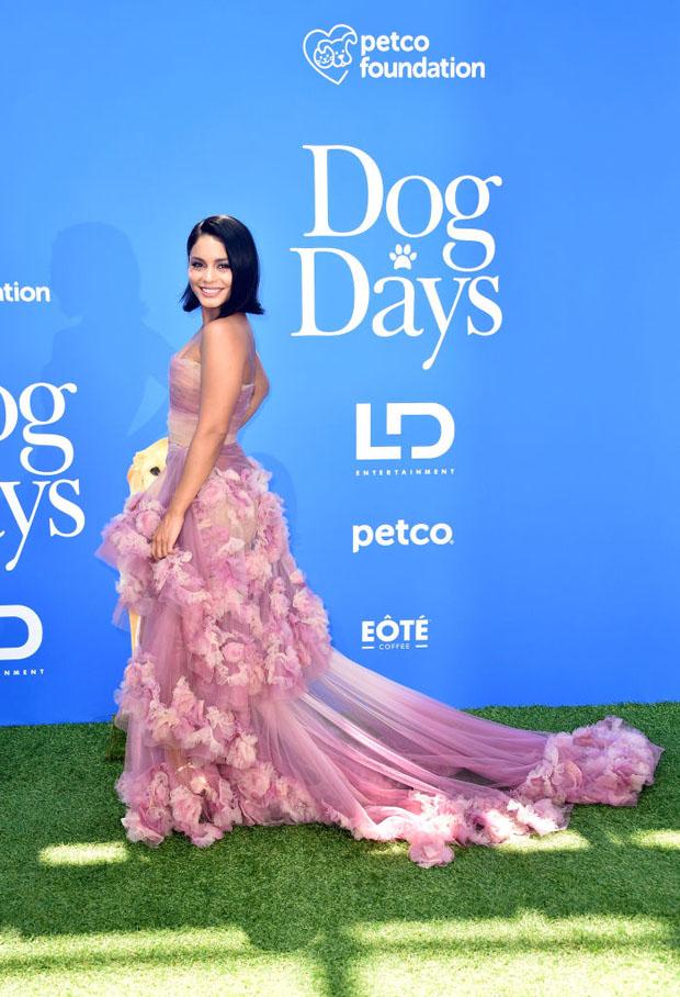 Vanessa Hudgens In Marchesa - 'Dog Days' LA Premiere
