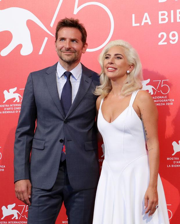 Lady Gaga In Azzedine Alaïa - 'A Star Is Born' Venice Film Festival Photocall