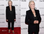 Glenn Close In Alexander McQueen - 'The Wife' New York Screening