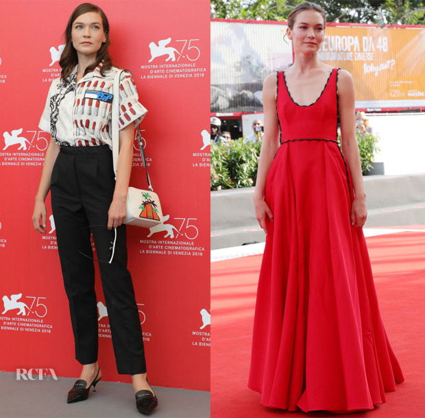 Hannah Gross In Prada - 'The Mountain' Venice Film Festival Photocall & Screening