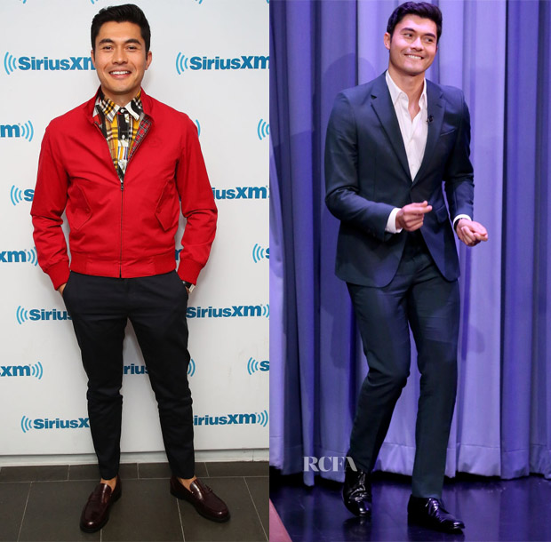 Henry Golding In Burberry & Prada - SiriusXM's Spotlight With The Cast Of 'Crazy Rich Asians' & The Tonight Show Starring Jimmy Fallon
