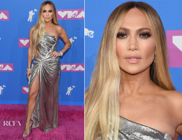 Jennifer Lopez In Versace - 2018 MTV VMAs