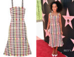 Kerry-Washington-In-Oscar-de-la-Renta-Eva-Longorias-Star-On-The-Hollywood-Walk-Of-Fame-Unveiling