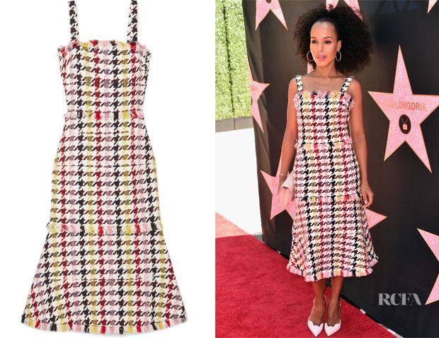 Kerry-Washington-In-Oscar-de-la-Renta-Eva-Longorias-Star-On-The-Hollywood-Walk-Of-Fame-Unveiling
