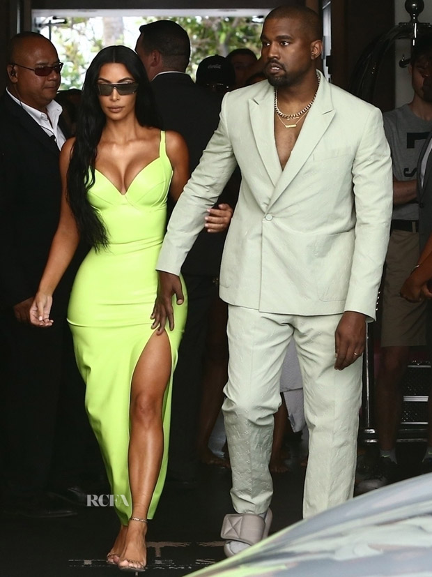 Kim Kardashian In Atsuko Kudo   Kanye West In Louis Vuitton - 2 Chainz  Wedding 2697cbec515