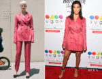 Kourtney Kardashian In Marina Moscone - Sugar Factory Store Opening