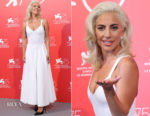 Lady Gaga In Azzedine Alaïa - 'A Star Is Born' Venice Film Festival Photocall