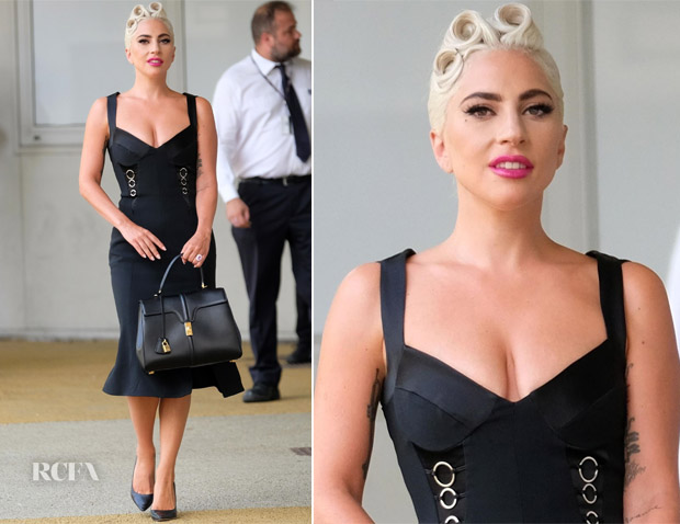 Lady Gaga In Jonathan Simkhai  - 2018 Venice Film Festival