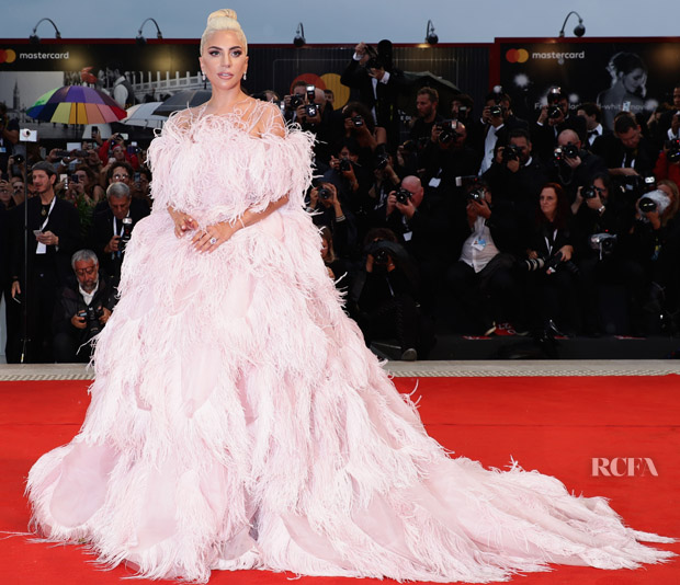 Lady Gaga In Valentino Haute Couture - 'A Star Is Born' Venice Film Festival Premiere