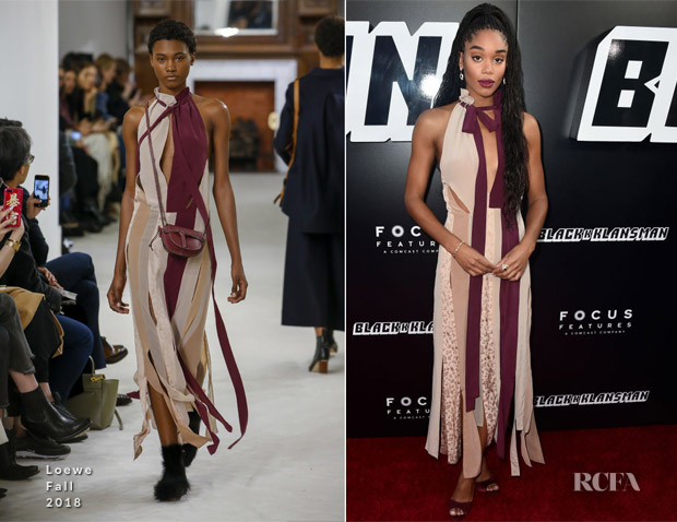 Laura Harrier In Loewe - 'BlacKkKlansman' LA Premiere