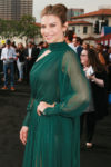 Lauren Cohan In Schiaparelli Haute Couture - 'Mile 22' LA Premiere