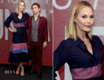 Leslie Bibb In Gabriela Hearst- SAG-AFTRA Foundation Conversations: 'Blue Iguana'
