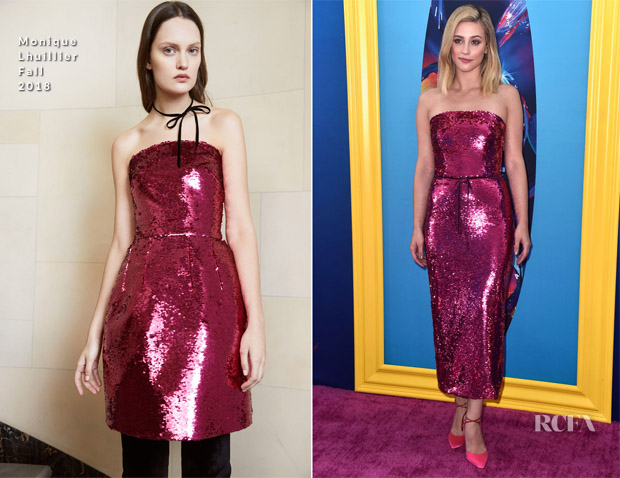 Lili Reinhart In Monique Lhuillier - 2018 Teen Choice Awards