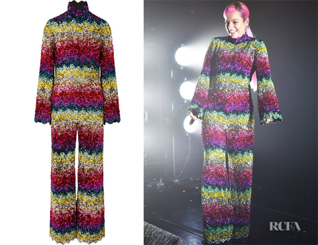 Lily Allen's Ashish Scalloped Sequined Jumpsuit