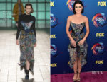 Lucy Hale In Mary Katrantzou - 2018 Teen Choice Awards
