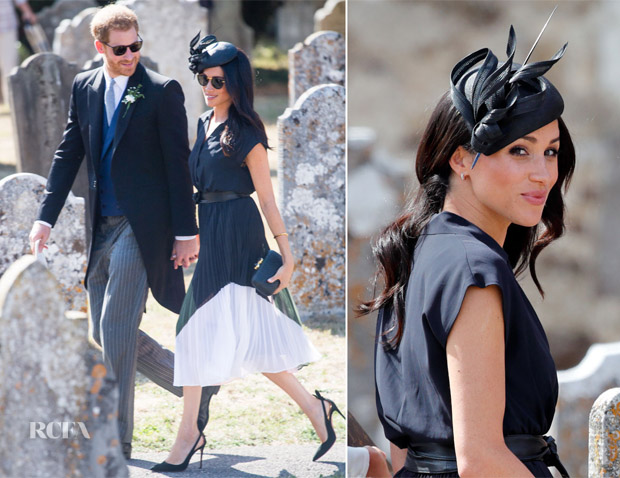 Meghan, Duchess of Sussex In Club Monaco - Daisy Jenks & Charlie Van Straubenzee's Wedding