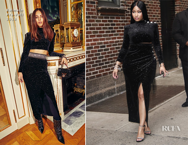 Nicki Minaj In Balmain - The Late Show With Stephen Colbert