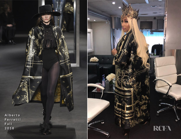 Nicki Minaj Is Instaglam In Alberta Ferretti