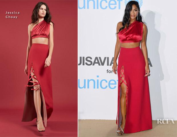 Nicole Scherzinger In Jessica Choay - Unicef Summer Gala