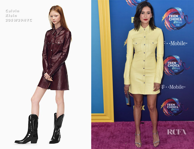 Nina Dobrev In Calvin Klein 205W39NYC - 2018 Teen Choice Awards