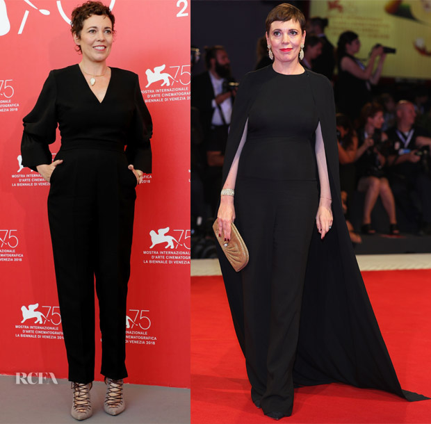Olivia Colman In Roksanda & Stella McCartney - 'The Favourite' Venice Film Festival Photocall & Premiere