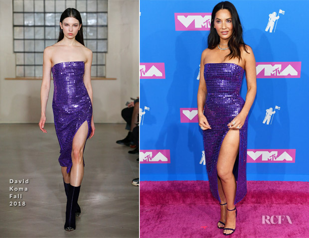 Olivia Munn In David Koma - 2018 MTV VMAs