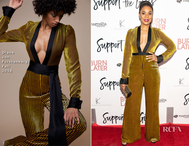 Regina Hall In Diane von Furstenberg - 'Support The Girls' LA Premiere
