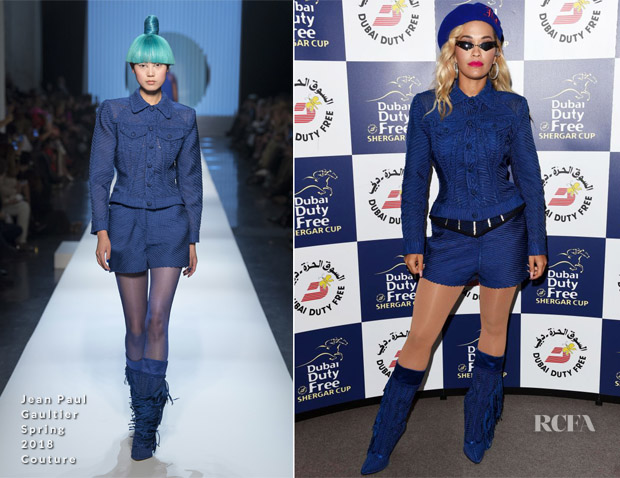 Rita Ora In Jean Paul Gaultier Haute Couture - Ascot Racecourse
