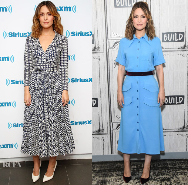 Rose Byrne In Valentino & Rochas - SiriusXM & Build Series