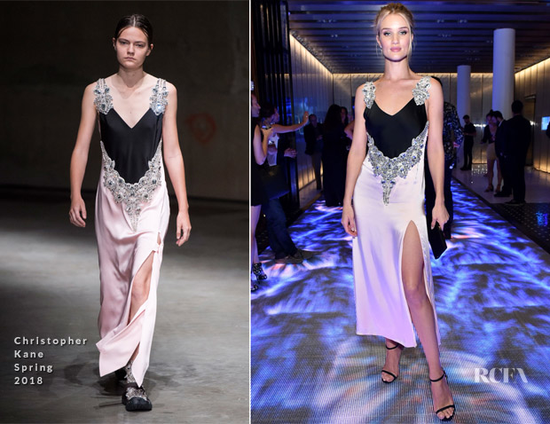 Rosie Huntington-Whiteley In Christopher Kane - INTERSECT By Lexus Preview Event
