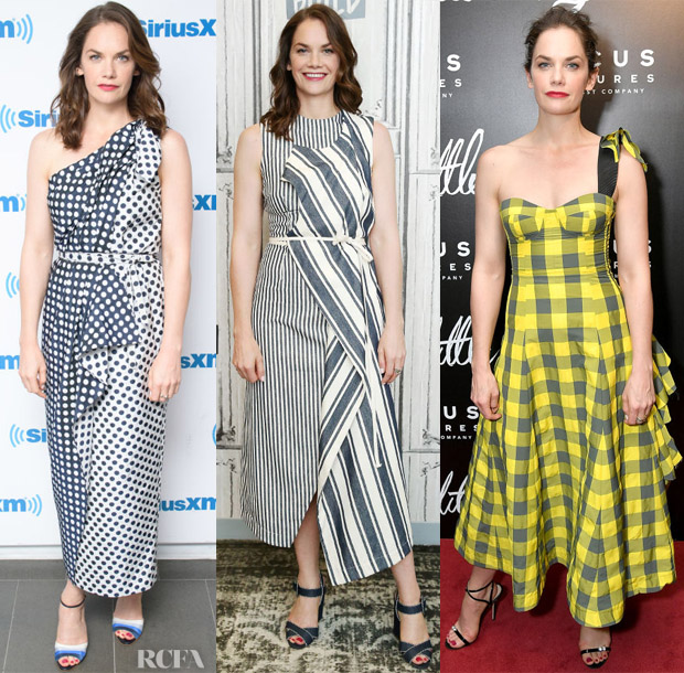 Ruth Wilson In Carolina Herrera, Monse & Natasha Zinko - SiriusXM, Build Series & 'The Little Stranger' New York Premiere