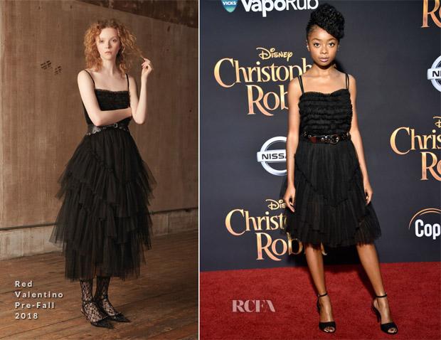 Skai Jackson In Red Valentino - 'Christopher Robin' LA Premiere