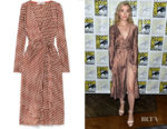 Skyler Samuels' DVF Tilly Polka Dot Wrap Dress
