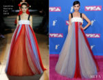 Sofia Carson In Carolina Herrera - 2018 MTV VMAs
