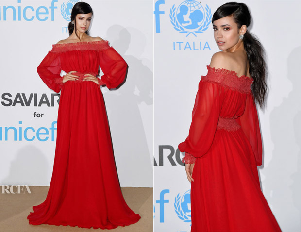 Sofia Carson In Giambattista Valli - Unicef Summer Gala
