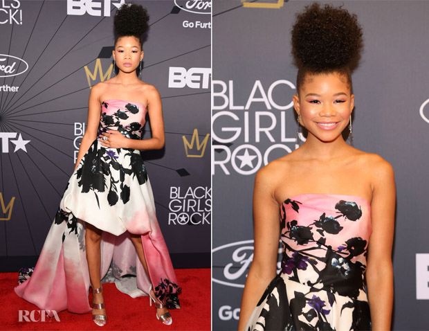 Storm Reid In Monique Lhuillier - 2018 Black Girls Rock! Awards