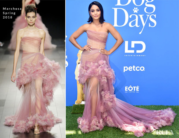 Vanessa Hudgens In Marchesa - 'Dog Days' LA Premiere