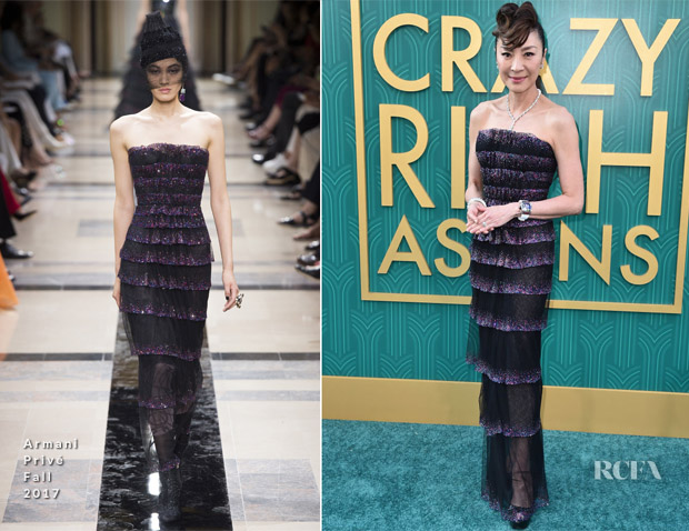 Michelle Yeoh In Armani Privé - 'Crazy Rich Asians' LA Premiere