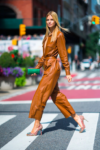 Nadine Leopold In Zeynep Arçay - Out In New York City