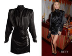Abbey Clancy's Alessandra Rich Crystal-Embellished Dress