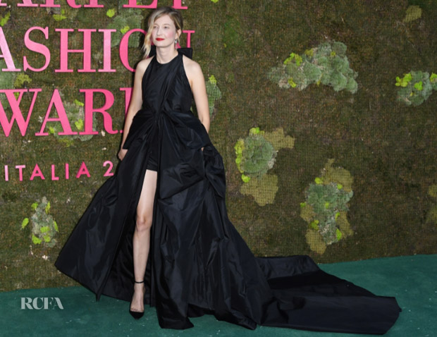 Alba Rohrwacher In Valentino Haute Couture - Green Carpet Fashion Awards Italia 2018