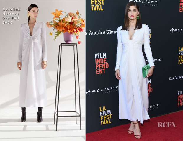 Alexandra Daddario In Carolina Herrera - 'We Have Always Lived in the Castle' LA Film Festival Screening
