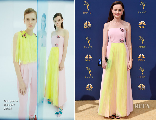Alexis Bledel In Delpozo - 2018 Emmy Awards