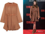 Alicia Vikander's Chloe Belted Mini Dress