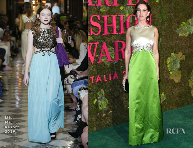 Alison Brie In Miu Miu - Green Carpet Fashion Awards Italia 2018