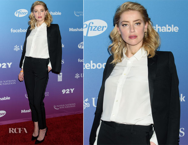 Amber Heard In Saint Laurent - 2018 Social Good Summit