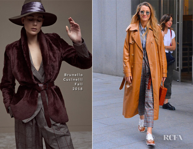 Blake Lively In Brunello Cucinelli - Out In New York City