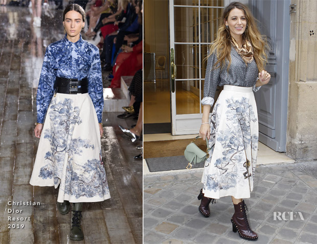 Blake Lively In Christian Dior - Dior's Head Office