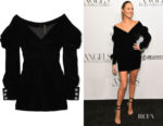Candice Swanepoel's Alexandre Vauthier Off-The-Shoulder Dress