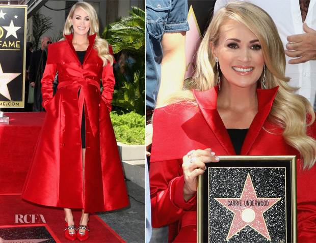 Carrie Underwood In John Paul Ataker & Isabella Oliver - Star On The Hollywood Walk Of Fame Unveiling